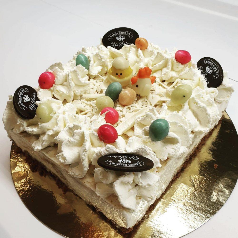 8 persoons ijstaart Witte chocolade met bastogne